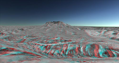 figure 21 - Anaglyph 3D view of Mount St.Helens